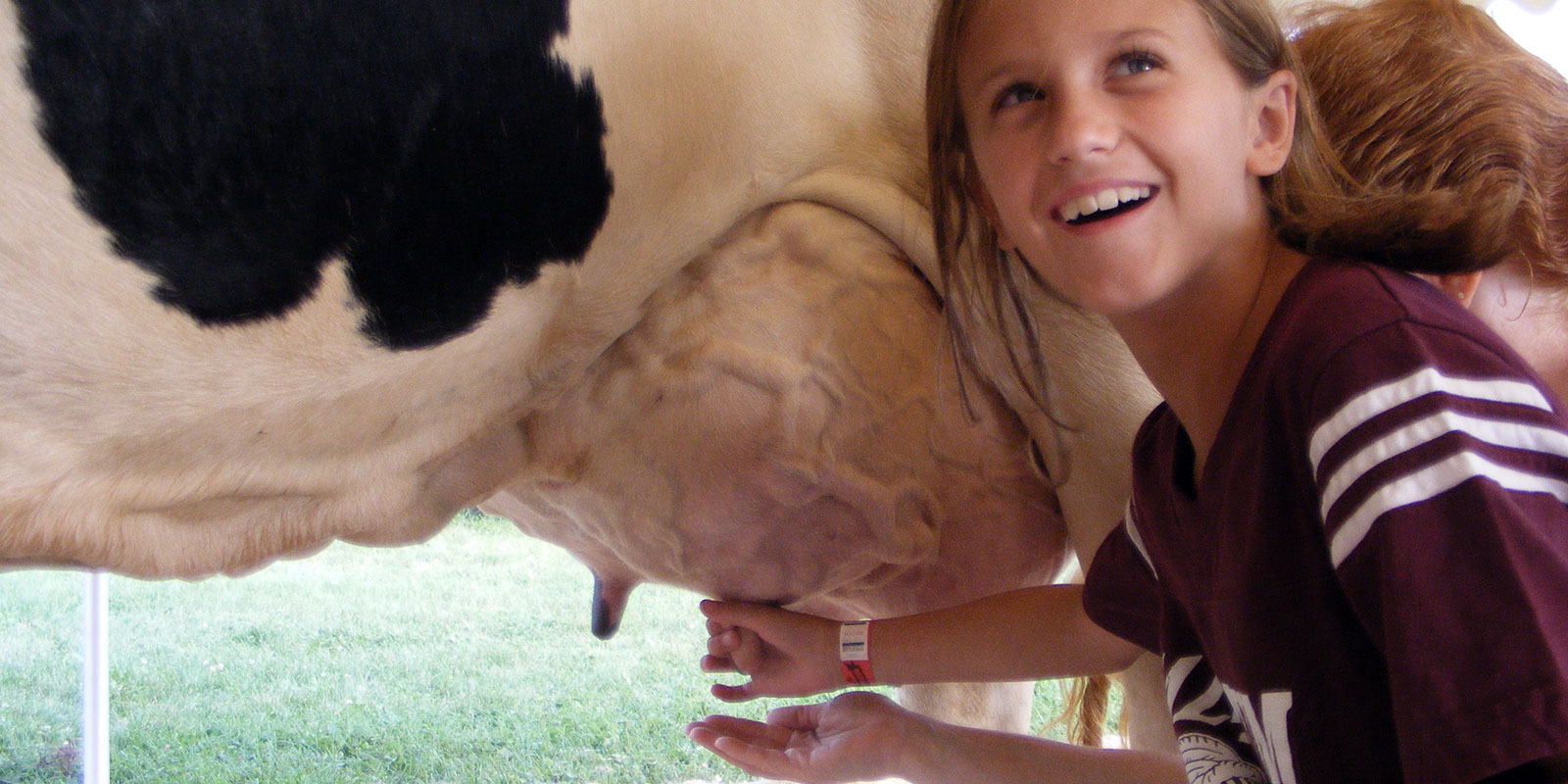 girl-milking-cow
